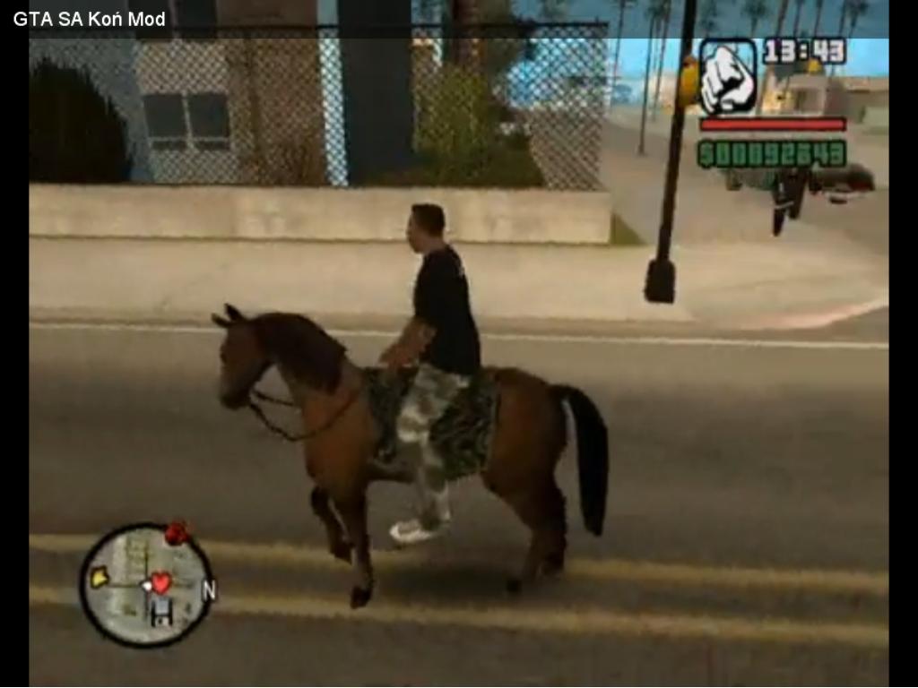 Скачать мод лошадь для гта сан андреас